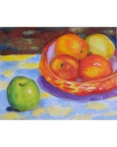 Still life with apples 8x10inches