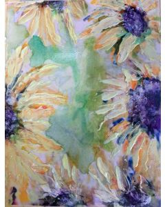 Sunflowers Floral Painting