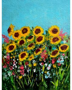 Sunflowers Inspired by Van Gogh Acrylic Floral Gift light painting