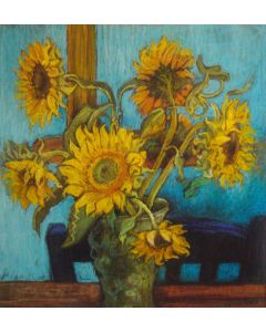 Sunflowers influenced by Van Gogh