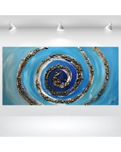 Blue Swirl - Abstract Pinting on Canvas, Acrylic Painting