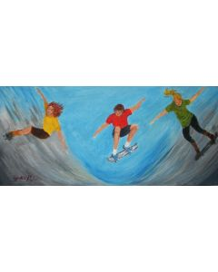 A SWOOSH OF SKATEBOARDERS