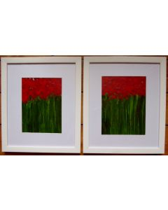 Tall Poppies Diptych