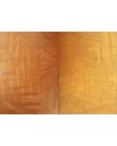 Touch me gently - diptych bronze and golden abstract