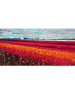 The Flower Fields - Large Painting on Two Panels
