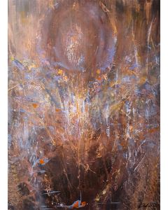 Rust Colors Angel Composition signed KLOSKA