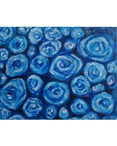 Blue Roses| Mini Canvas Oil Painting 20cmx25cm