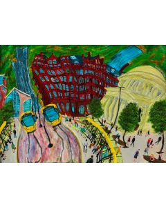 Tram Station in St. Peter's Square, Manchester, No. 8 Limited Edition of 50 Print