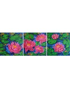 Water lily pond... Triptych