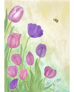 Tulips and Bee