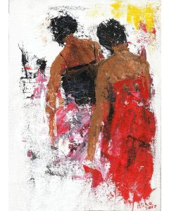 Two sisters - Contemporary art on canvas