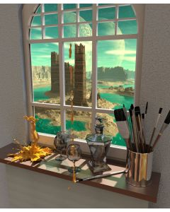 The view from the artist`s window