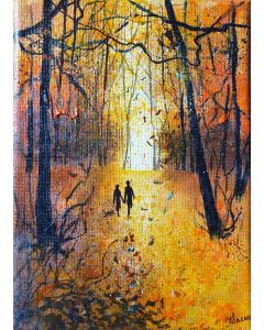 Seasons - Autumn Stroll in woods with the dog