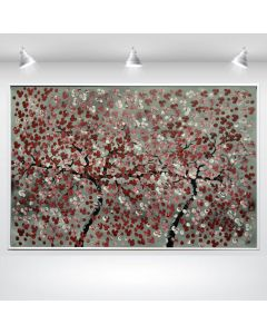 Soulsisters - Blooming tree painting, Cherry Blossoms, Framed Artwork