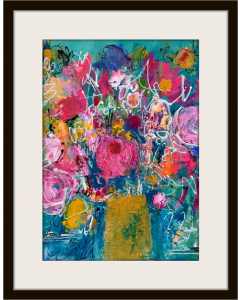 Spring Flowers in a Yellow Vase