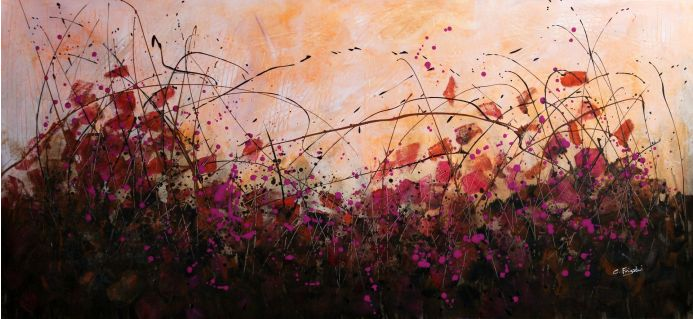 Fall-ing In Love - Large original floral painting