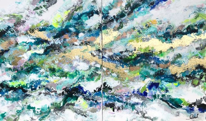 Into the blue - Oversized modern abstract art XXL Contemporary