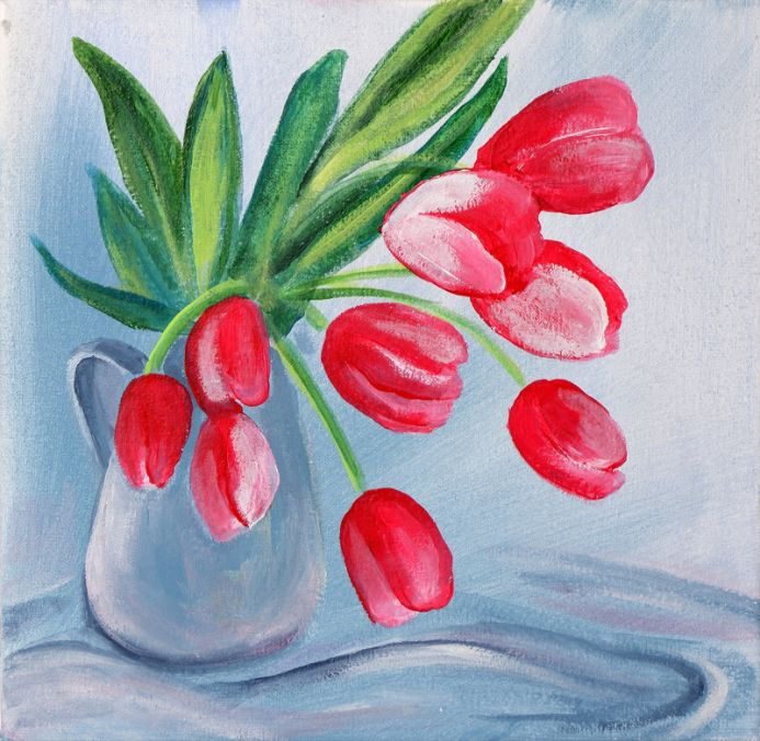 Red Withered Tulips