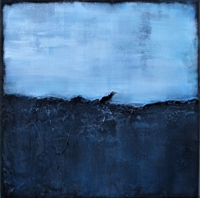 Breath of Free Air 40 x 40cm Textured Abstract Painting