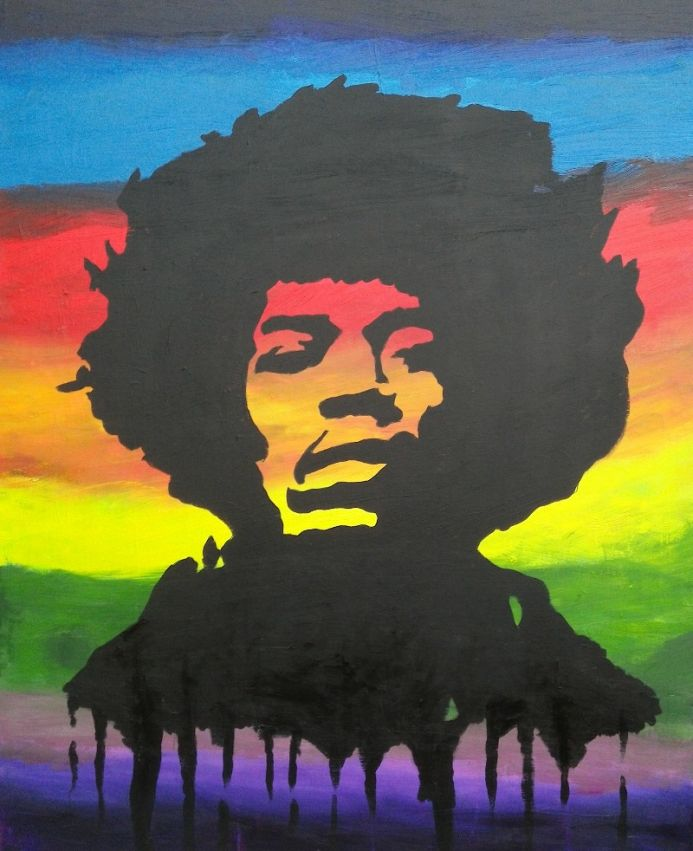 Jimi Hendrix:Rainbow Bridge (very large canvas)
