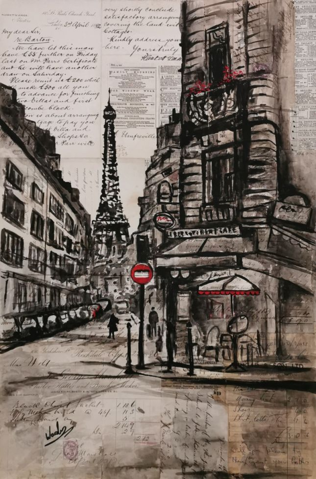 A Street Corner In Paris (Original)