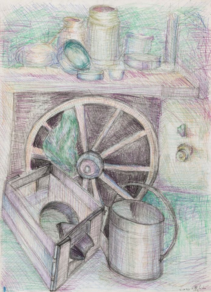 Still Life with a Wooden Wheel