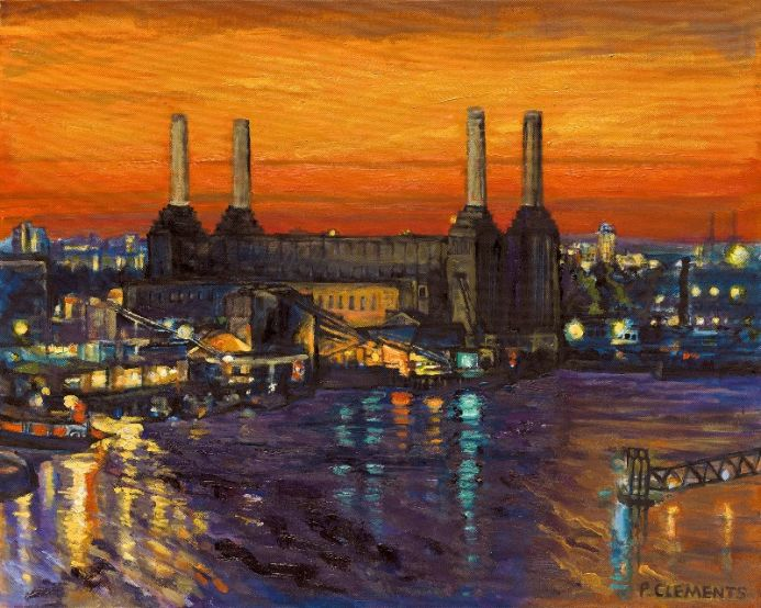 Battersea Power Station London Skyline
