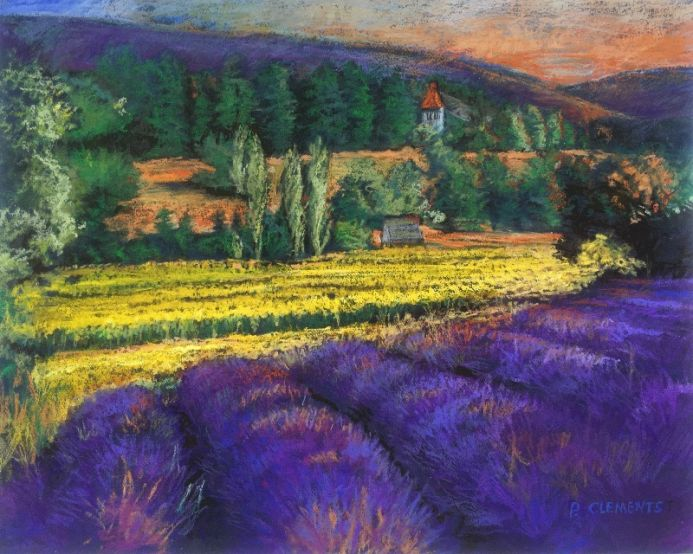 French Lavender fields and corn fields