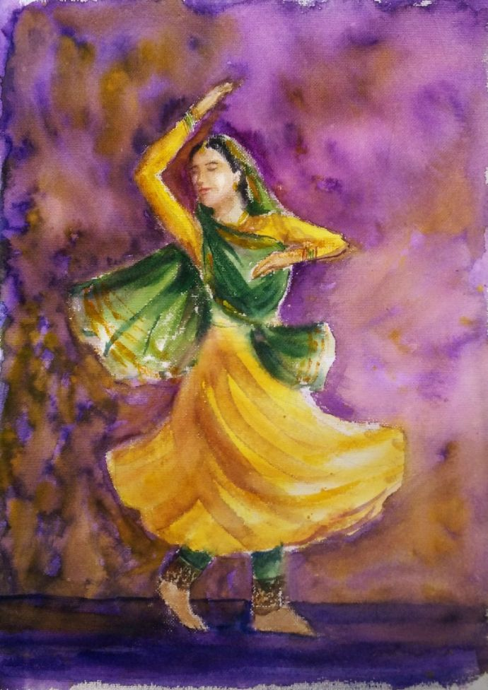 original view of dancer painting