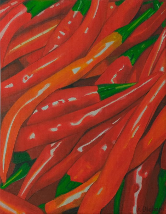 Racy red peppers