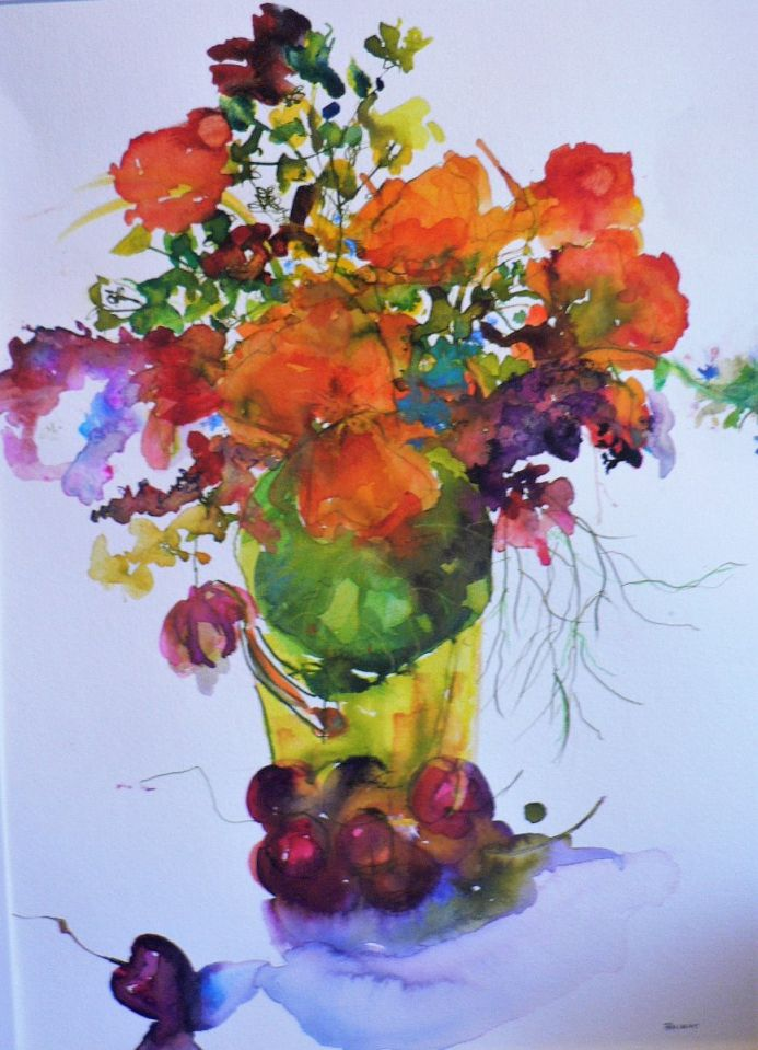 Nasturtiums & Cherries