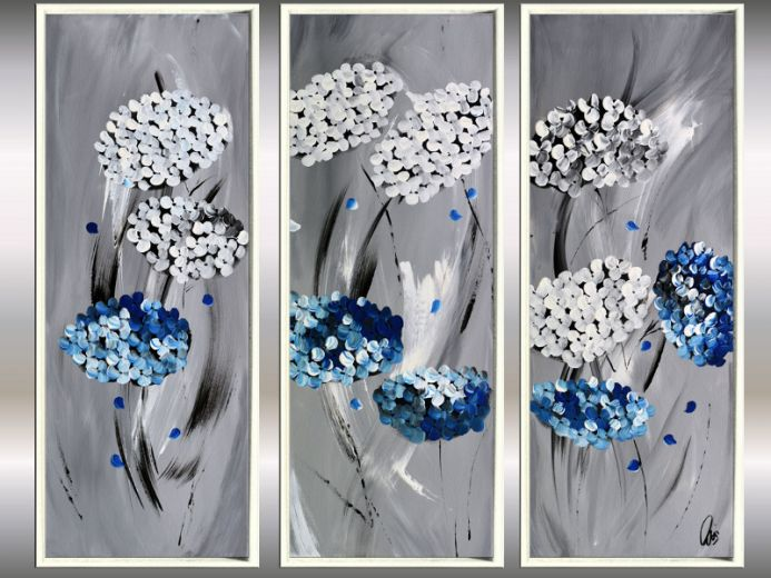 Elegance - Framed Acrylic Paintings, Abstract Flower Paintings