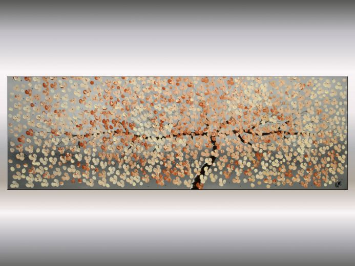 Blütentraum II - Acrylic Painting on Canvas, Cherry Blossoms Painting