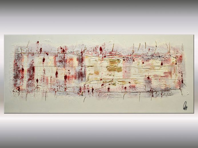 Golden Views - Abstract Acrylic Painting on Stretched Canvas