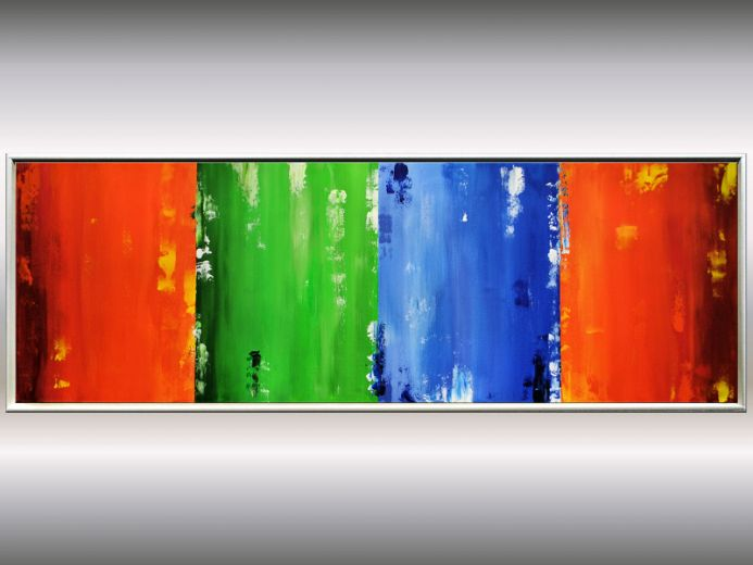 Lightlines - Abstract Artwork on Canvas, Framed Painting