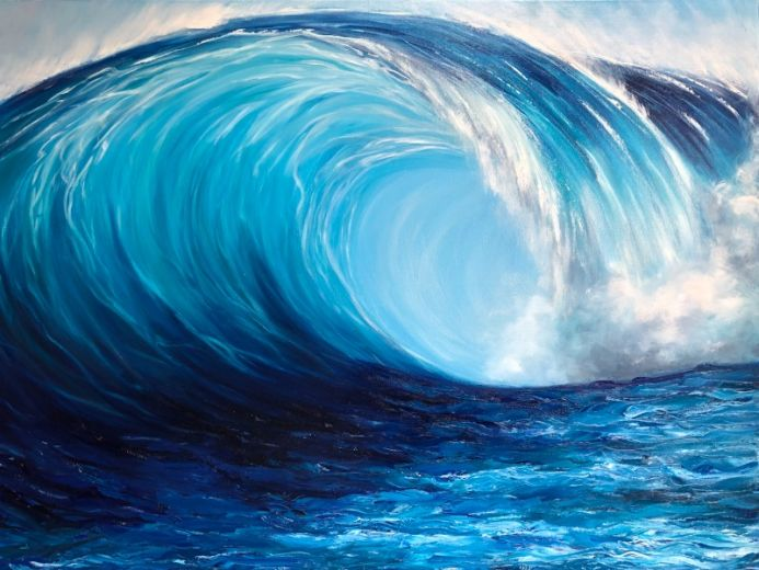 Turquoise Wave Breaking