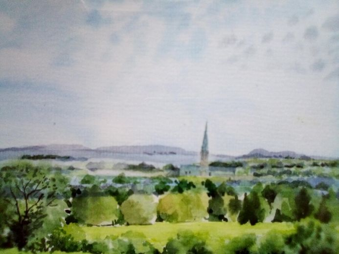 View of Salisbury from Old Sarum Castle