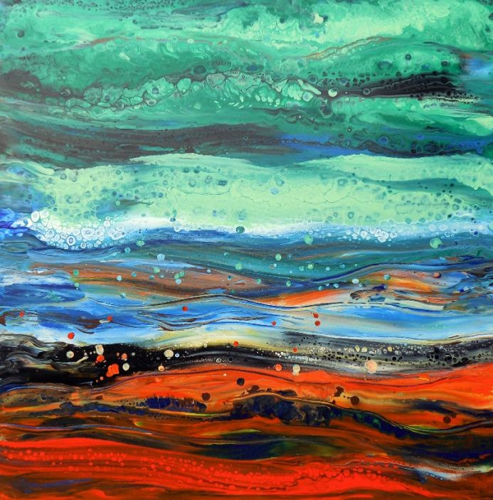 Abstract landscape, modern abstract painting art
