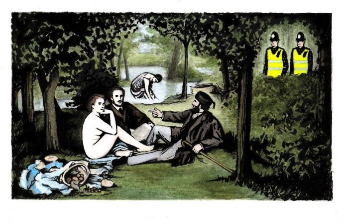 Picnic on the Heath (Apologies to Manet)