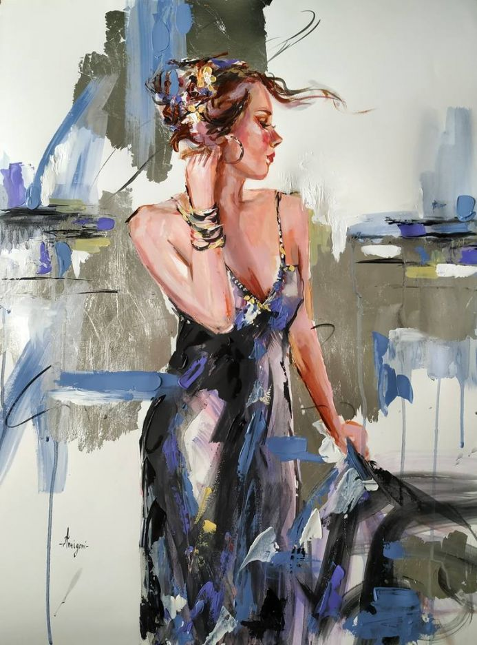 Classic - Figurative painting on paper