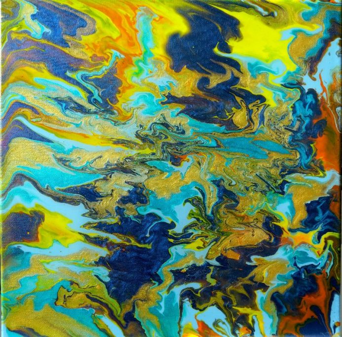 Alessia Camoirano abstract art  psychedelic art  fluid art  iridescent colours  resin