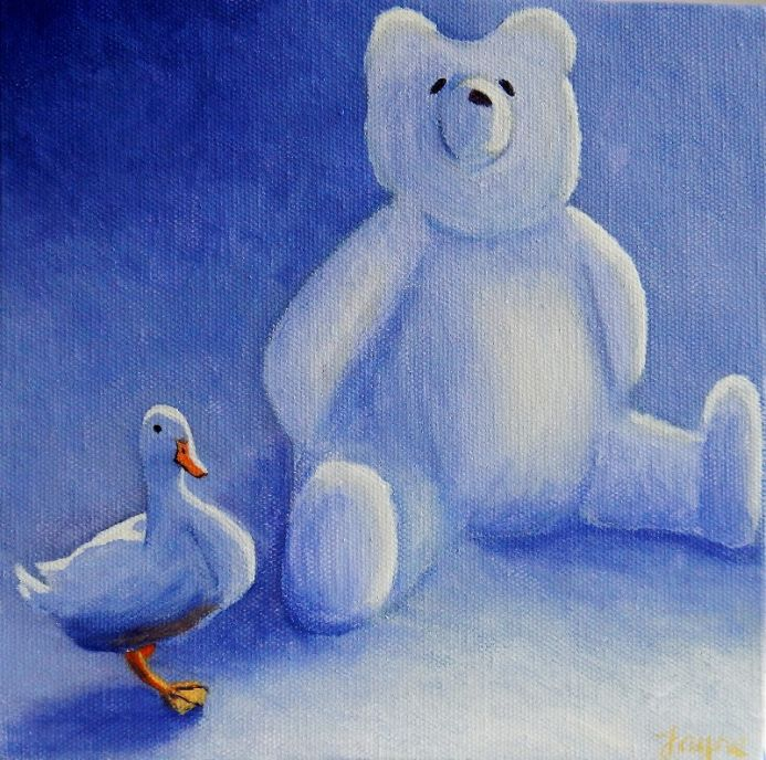 """""""All my own work"""" said white duck"""