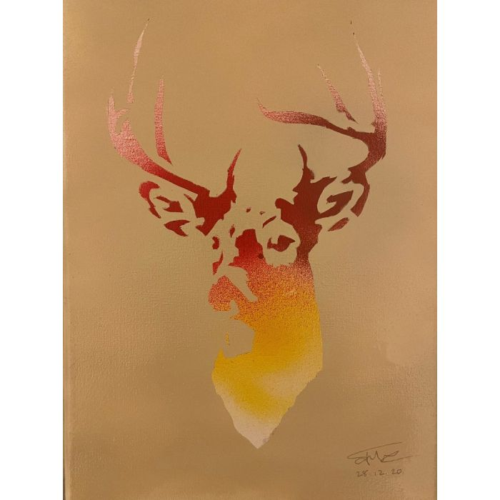 Inverted Stag Stencil