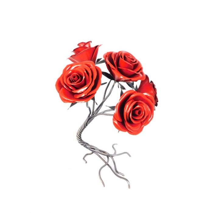 Leaning Red Rose Sprial