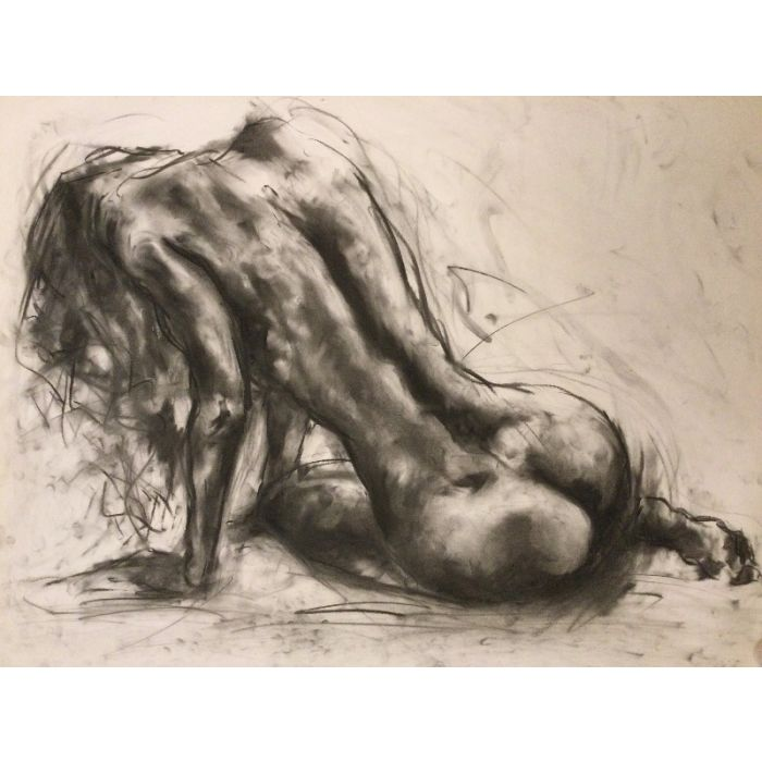 Passion - Large Charcoal Drawing