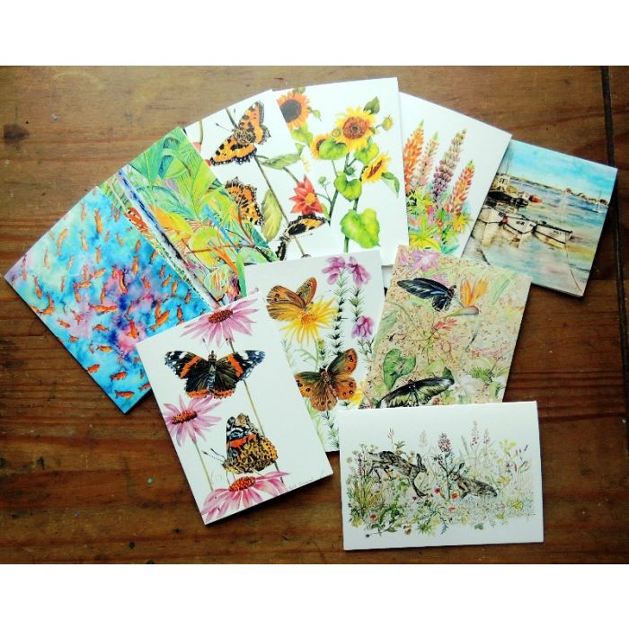 Set of ten blank greeting cards/ Notelets with envelopes