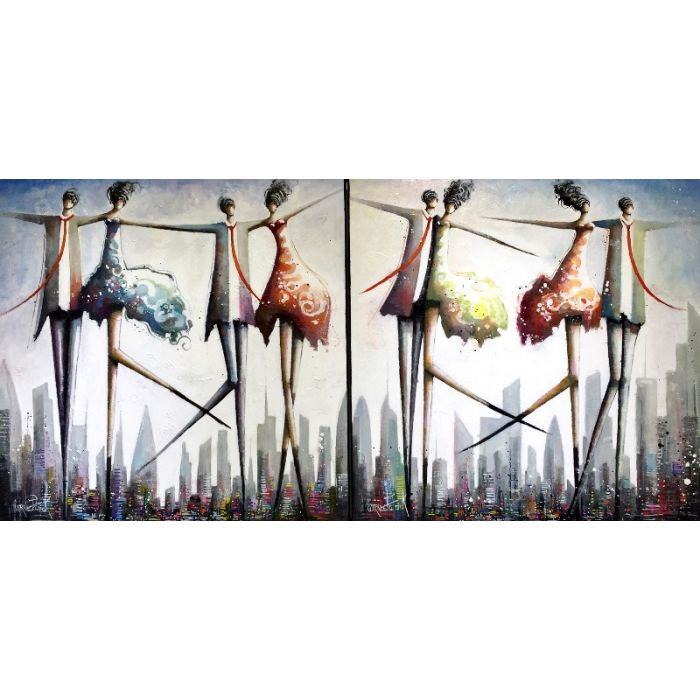 Freedom in the world I and II diptych