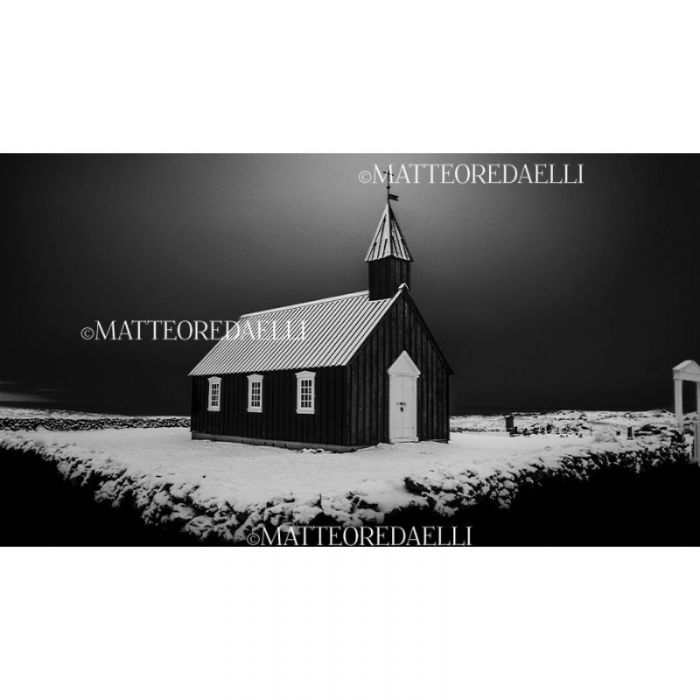 Black Church In Winter - Limited Edition (15 editions)