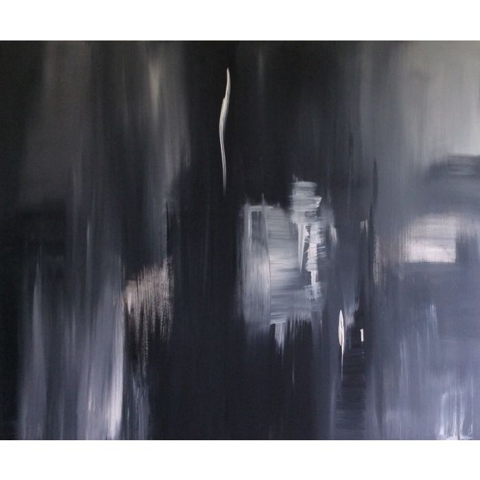 Shades Of Grey- Acrylic On Stretched Canvas