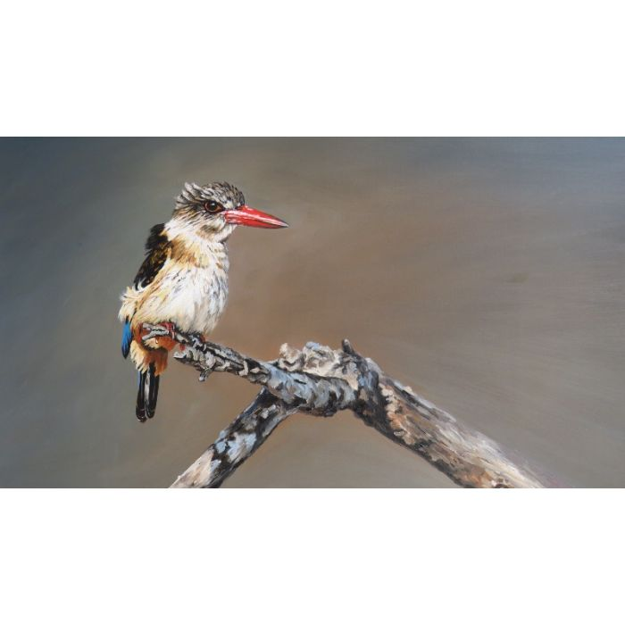 Kingfisher Oil painting